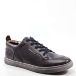 The KRYPTO NITE by Testosterone Shoes is right on trend.  This shoe features a shortened cuff and distressed leather all over.  A thick sole and same color stitching gives these shoes a more sophisticated look.