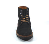 TRACK STAR by Testosterone Shoes finishes first in any race. This suede logger boot has heavy contrast stitch details, a lace up vamp and convenient side zip detail with a rounded toe design. This boot will quickly become a favorite in your shoe collection. For a classic look that's right on trend with complimenting casual and dressier options try TRACK STAR by Testosterone Shoes.