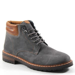 Rugged construction and stylish design make these leather lace-up boots truly Top Kicks. The combat style is softened by suede and cushioned in comfort for all-day wear. From Testosterone Shoes.