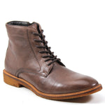Well dressed men need a sleek leather boot that adds a cool classic stamp to a versatile silhouette. ALLOW ME by Testosterone® has a smooth leather upper, lace up vamp and a hidden side zip closure. A sturdy 1- inch heel with a cushioned insole for maximum comfort is one that you are sure to love.