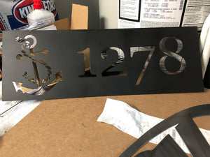 Customized Anchor House Number *FREE SHIPPING*