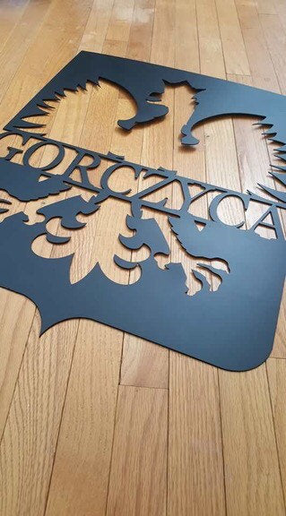 Polish heritage steel cnc cut sign.  Free Shipping!!!