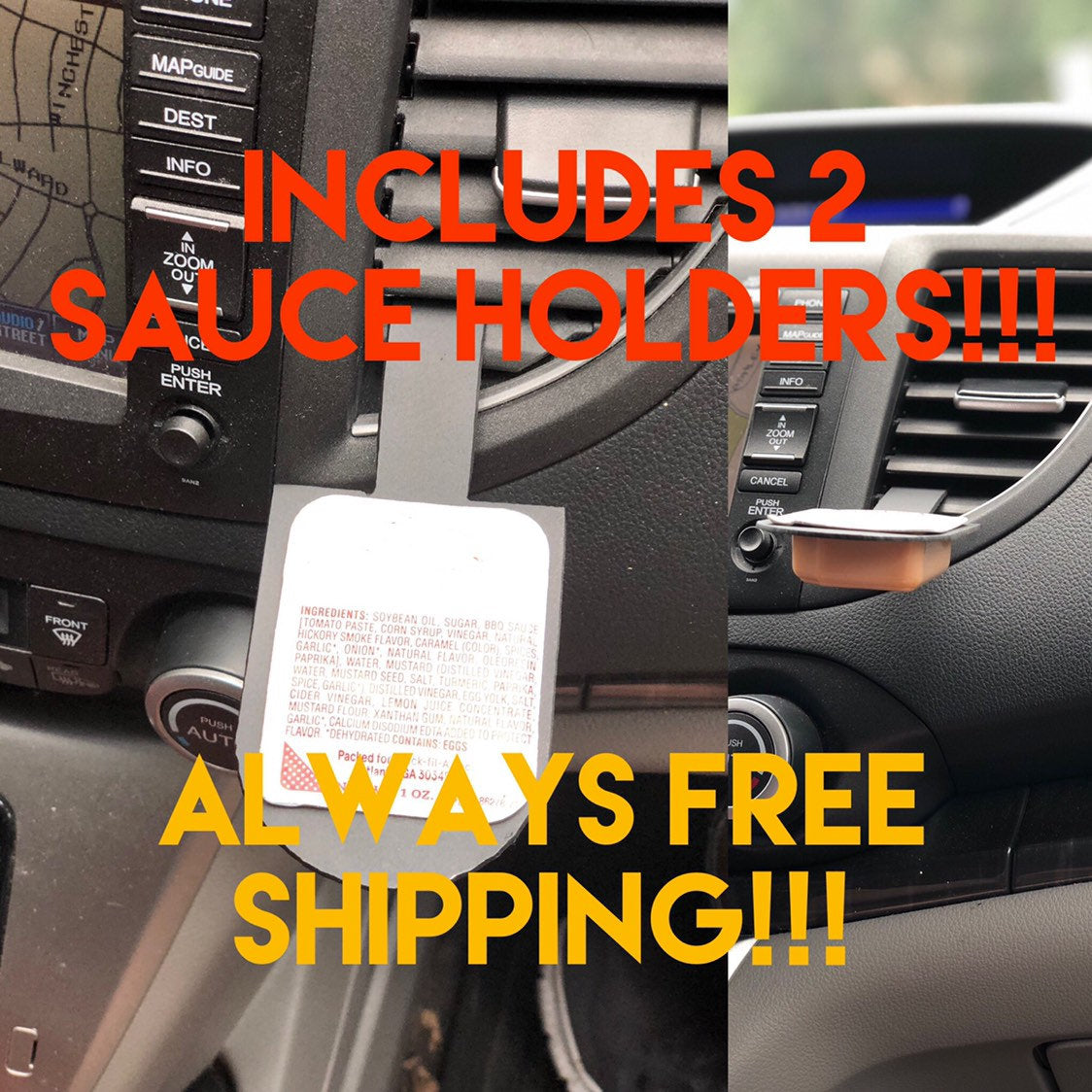 2-pack Chick Sauce Holder FREE SHIP!