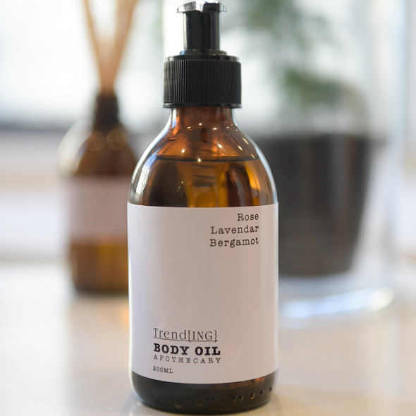 Organic Body oil- infused with lavender/bergamot