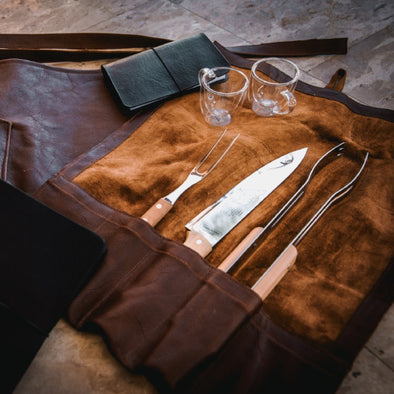 Genuine Leather Braai Set