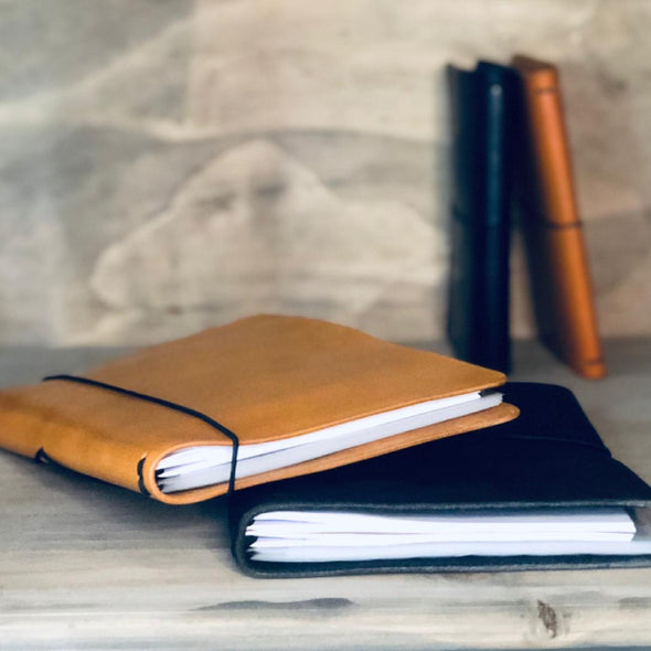 Endless leather notebook