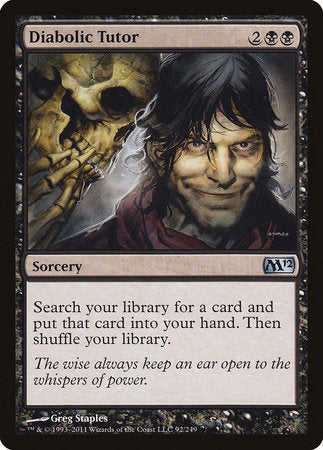 Diabolic Tutor [Magic 2012] | Gamers Paradise