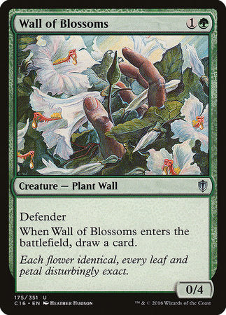 Wall of Blossoms [Commander 2016] | Gamers Paradise