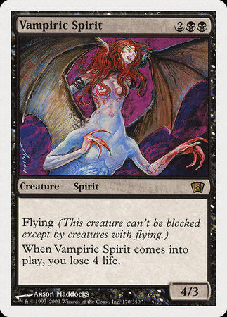 Vampiric Spirit [Eighth Edition] | Gamers Paradise