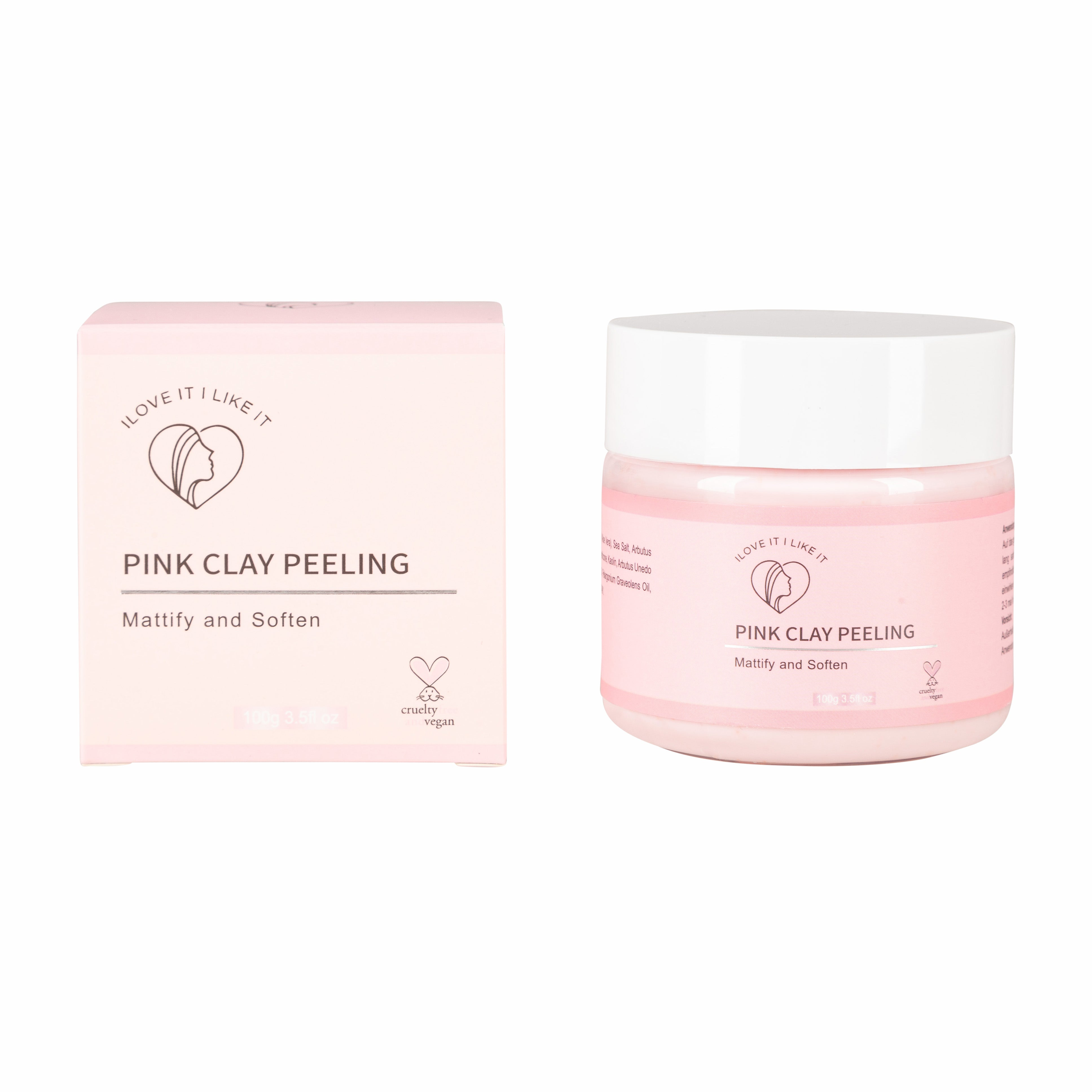 Pink Clay Peeling - I LOVE IT I LIKE IT