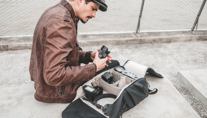 OneGo camera backpack open up a full 180°