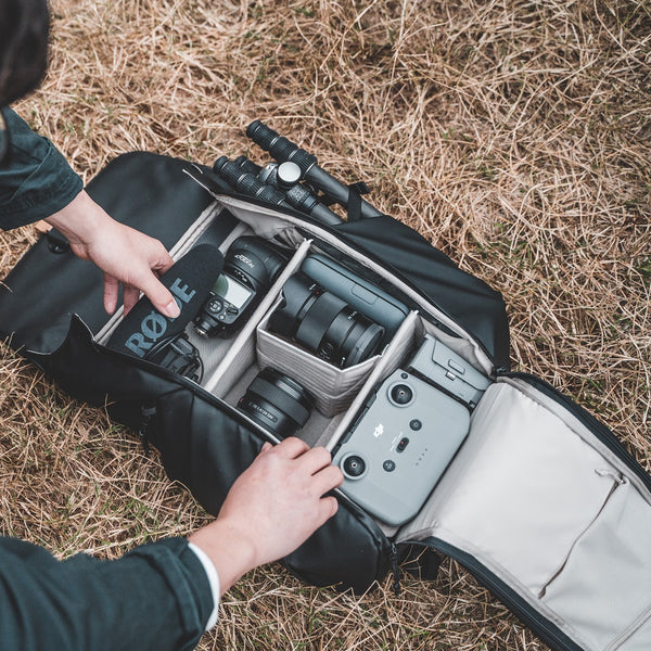 OneGo camera backpack customized dividers