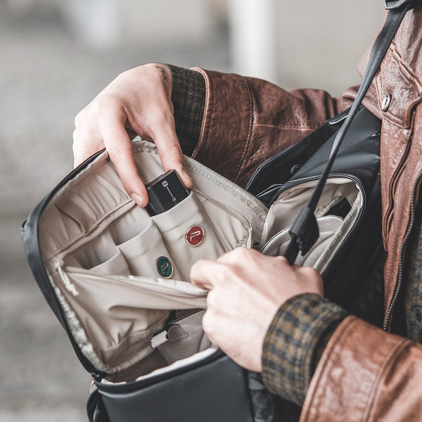 OneGo backpack with battery pocket