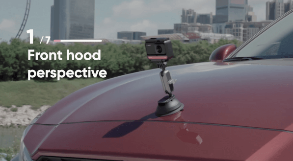 【Front hood perspective】