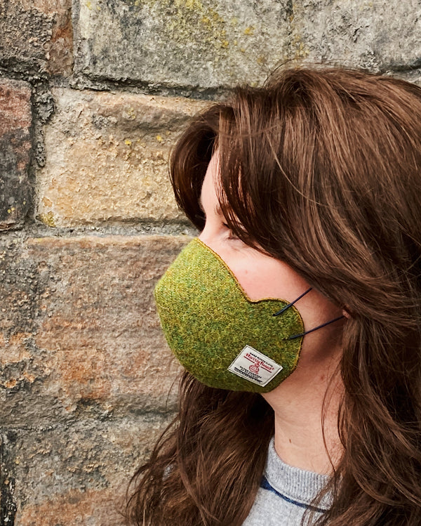 Harris Tweed® Face Covering (Moss Green)