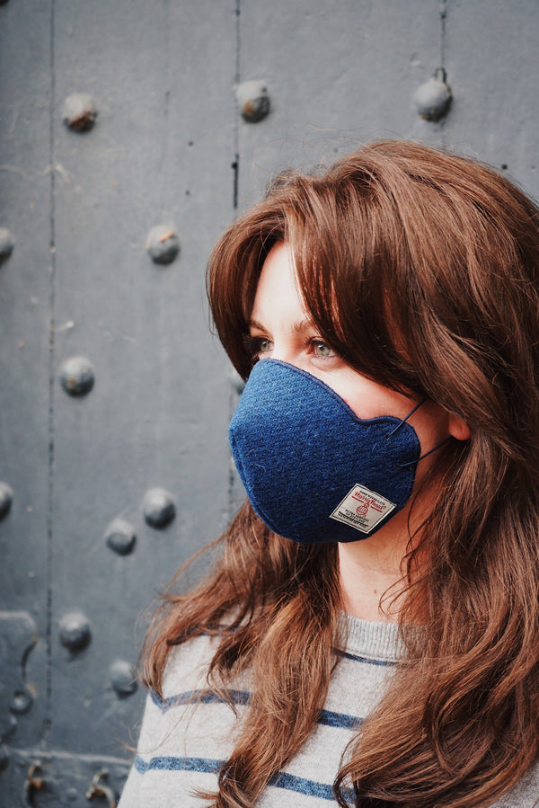 Harris Tweed® Face Covering (Denim Blue)