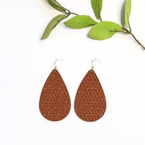 Leather - RedLeaf Bamboo Teardrop - GraceUnfaded