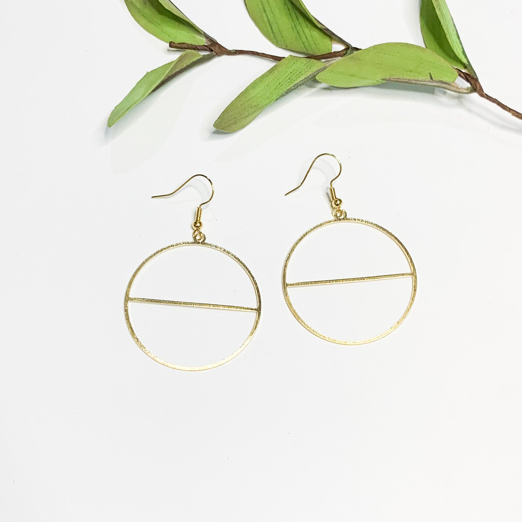 Brass Drop Earrings - GraceUnfaded