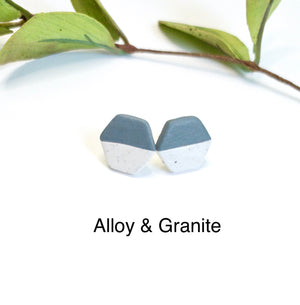 Clay - Hexagon Studs - GraceUnfaded