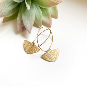 Brass Triangle Hoop - GraceUnfaded
