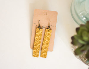 Leather - Sunflower HexRivet Rectangle - GraceUnfaded