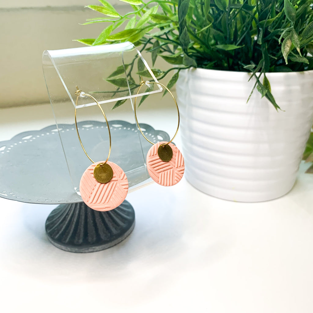 Clay and Brass Hoops | Spring Collection - GraceUnfaded