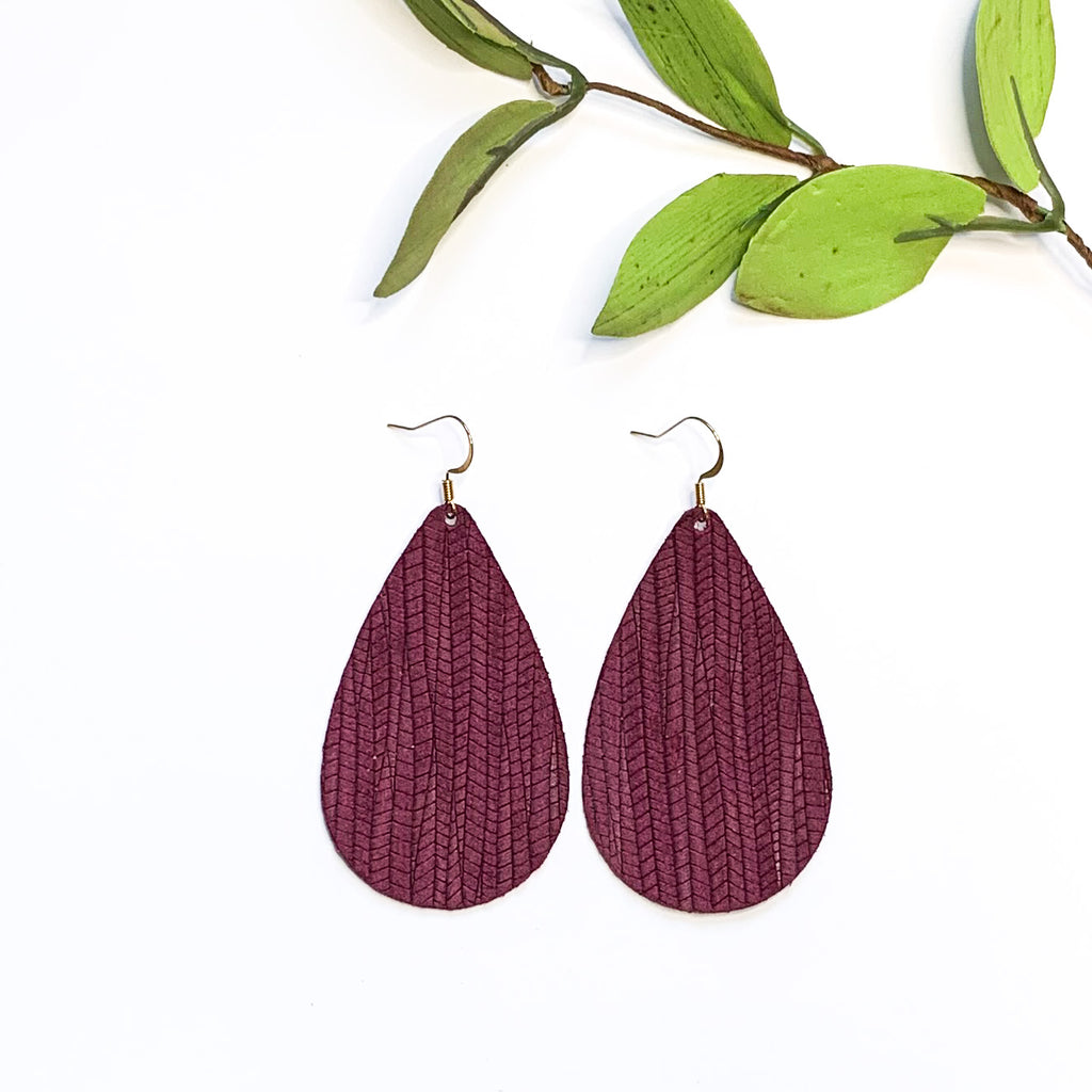 Wine Bamboo Teardrop - GraceUnfaded