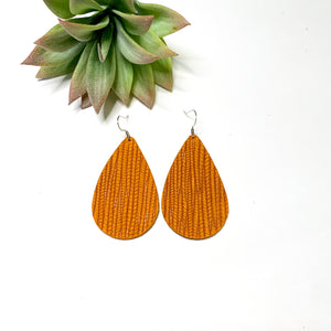 Leather - Burnt Orange Teardrop - GraceUnfaded