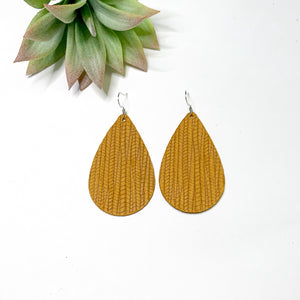 Leather - Deep Mustard Teardrop - GraceUnfaded
