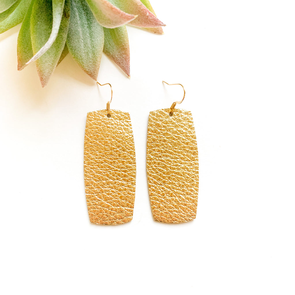Gold Pebble Rounded Rectangle - GraceUnfaded
