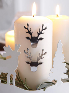 Reindeer Candle Studs - Set of Three