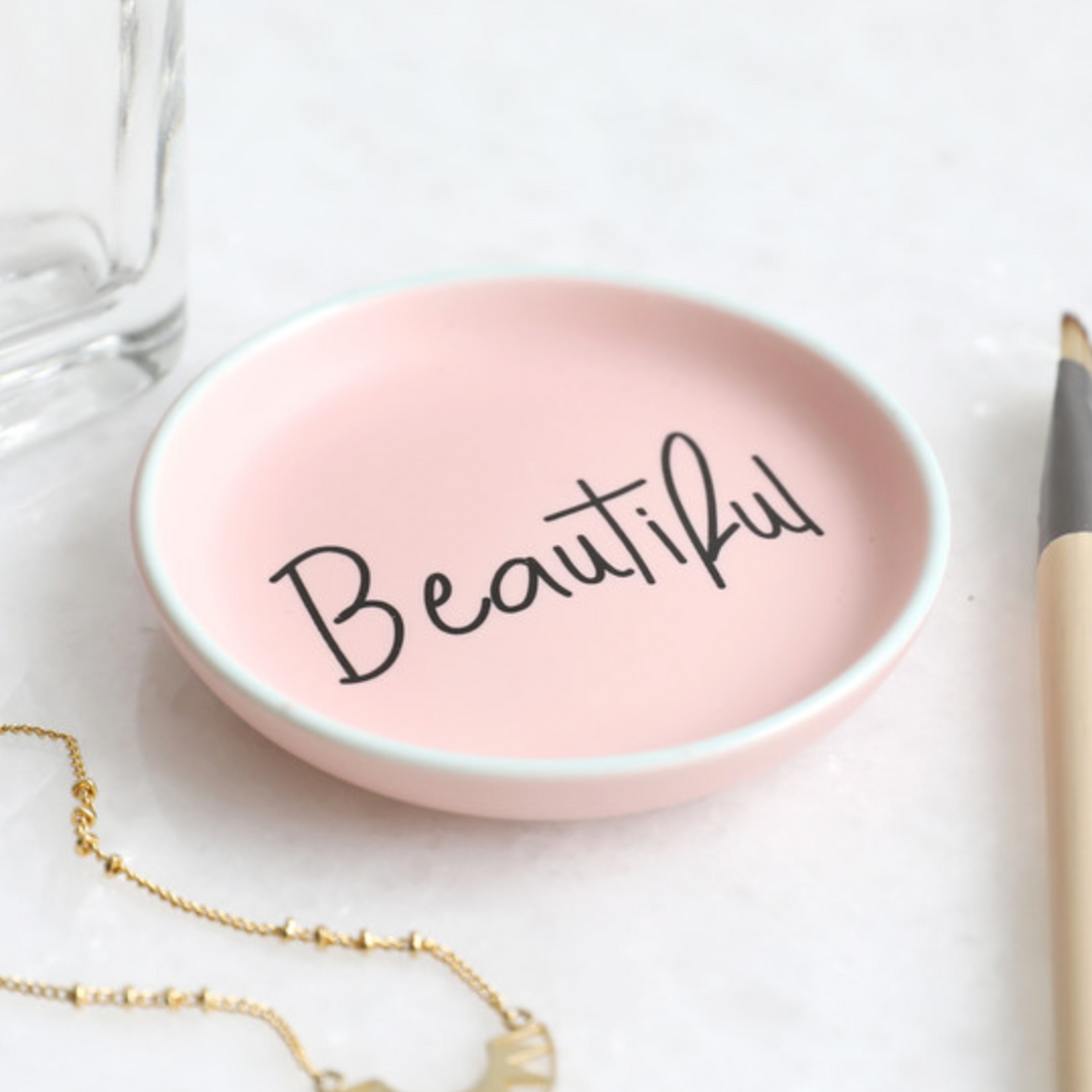 Pink Beautiful Trinket Dish