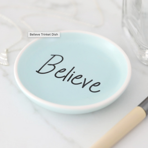 Blue Believe Trinket Dish