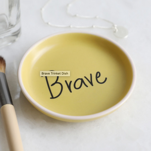 Yellow Brave Trinket Dish