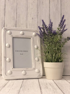 White Zuri Photo Frame