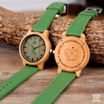 Tropical - Engraved Wooden Watch