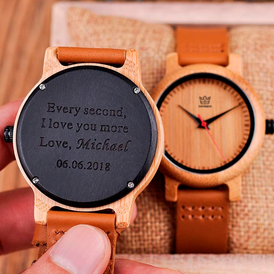 Minimal - Engraved Wooden Watch