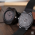 Elegance - Engraved Wooden Watch