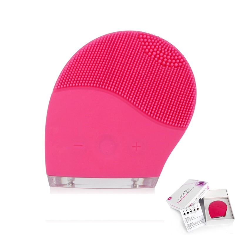 Skin Face Care Mini Electric Massage Brush