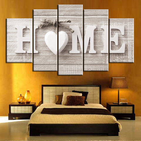 Painting Love HOME Wall