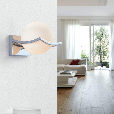 Wall Lamps Chrome Glass