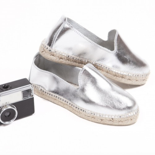 Silver Classic Slippers