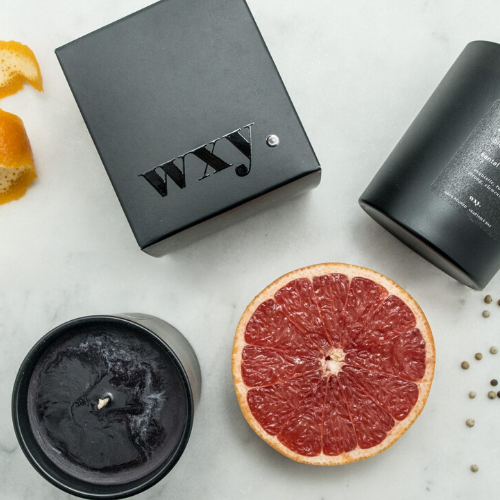 pitch. 7oz candle - BLOOD ORANGE & SANTAL EMBERS - WXY