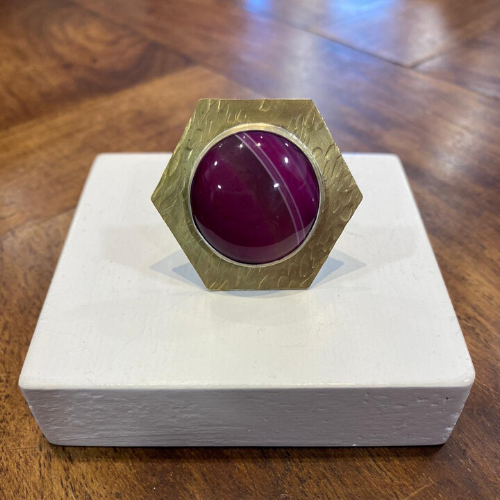MarpesiaAndCo - Purple Agate Ring