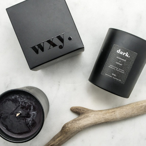 dark. 7oz candle - TEAKWOOD & VETIVER - WXY