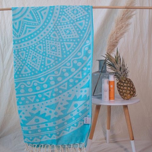 Aqua Dauphine Beach Towel
