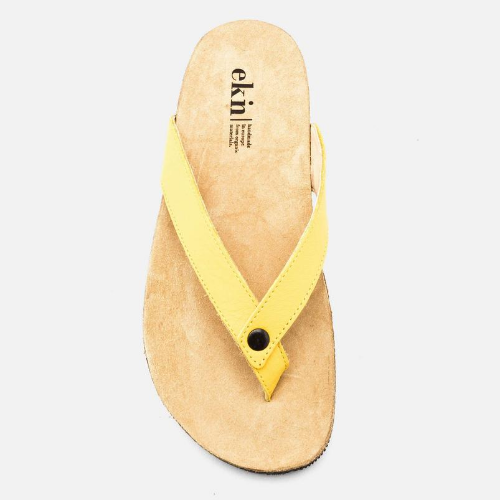 Yellow Vegan Leather Sandals - EKN