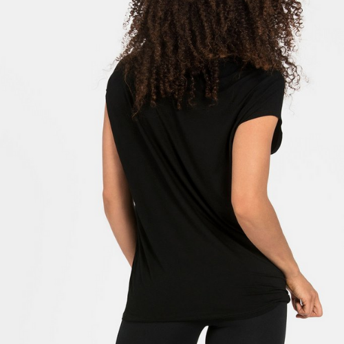 Black Luxe Layer Top