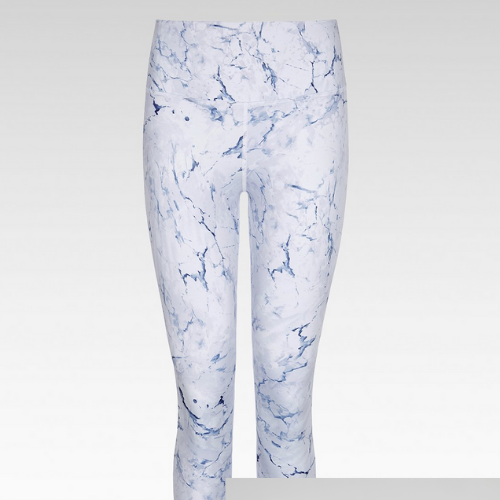 7/8 Length Legging - Cloud Crackle High Waist - Born Nouli