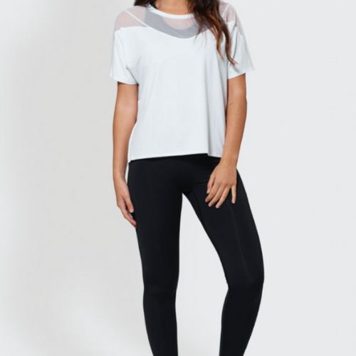 T-shirt - Mesh up - White - PS